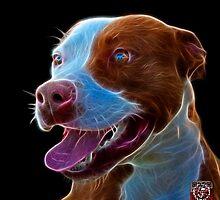 Pit Bull Pop Art - 7773  by Rateitart
