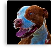 Pit Bull Pop Art - 7773  Canvas Print