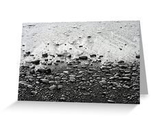 Black Pebble Beach Greeting Card