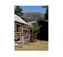 photoj Tas, Wooden Log Cabin, Mt Roland  Art Print
