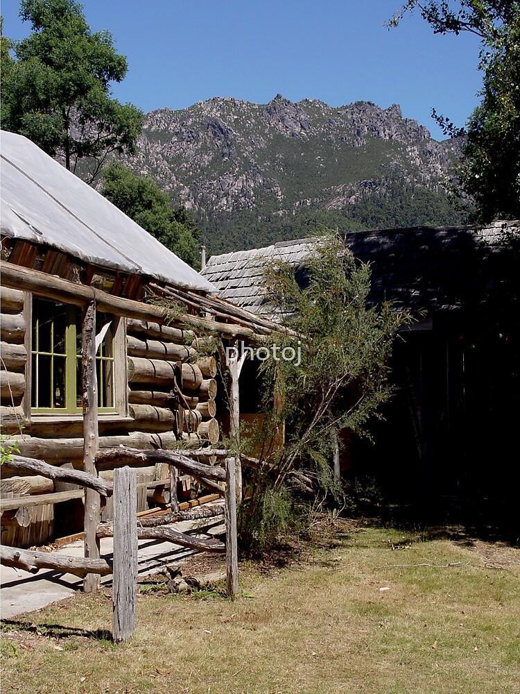 photoj Tas, Wooden Log Cabin, Mt Roland  by photoj