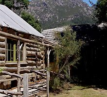 photoj Tas, Wooden Log Cabin, Mt Roland  by photoj
