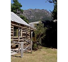 photoj Tas, Wooden Log Cabin, Mt Roland  Photographic Print