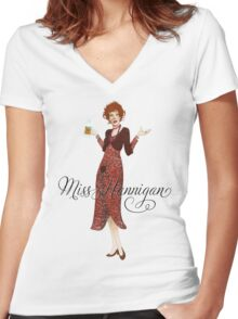 ANNIE - Miss Hannigan Women's Fitted V-Neck T-Shirt