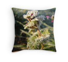 Frozen Flower Throw Pillow