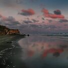 Twilight And The Cliffs Of Kai Iwi Beach by Peter Kurdulija