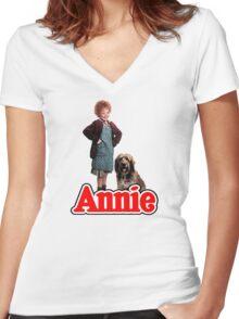 ANNIE - Annie & Sandy Women's Fitted V-Neck T-Shirt