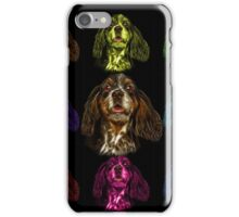 cocker spaniel dog art - 8249 iPhone Case/Skin