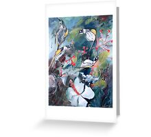 New Holland Honey Eaters with Hibiscus Greeting Card