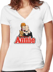Little Orphan Annie Women's Fitted V-Neck T-Shirt