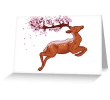 Deery Blossoms Greeting Card