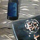 bottle and ashtray by ffarff