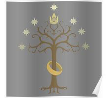 Lord of the Rings Inspired Tree Poster