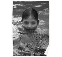 swimming in the rain Poster