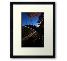 0529 - HDR Panorama - Walking Bridge Framed Print