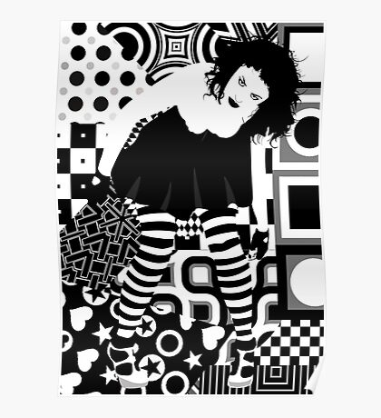 Goth woman Poster