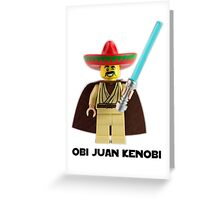 Obi Juan Kenobi Greeting Card