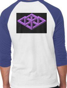 Isometric Impossibilities  Men's Baseball ¾ T-Shirt