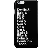 The Hobbit Dwarves iPhone Case/Skin