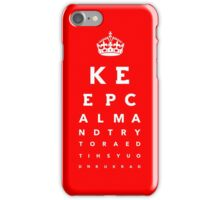 Keep calm eye test - color variation iPhone Case/Skin