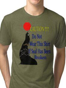 Caution !!!! Tri-blend T-Shirt