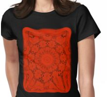 Red Design Womens Fitted T-Shirt