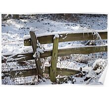 Winter Morning fence Poster