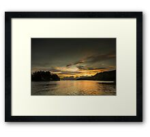 Echoes of days Framed Print