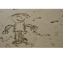 Sand man Photographic Print
