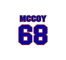 National football player Lloyd McCoy jersey 68 Photographic Print