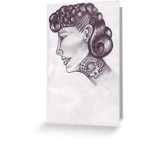 tattooed lady 50s style  Greeting Card