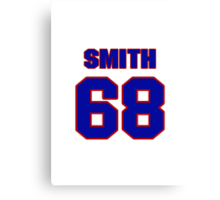 National football player Omar Smith jersey 68 Canvas Print