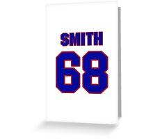 National football player Omar Smith jersey 68 Greeting Card