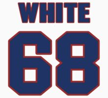National football player Chris White jersey 68 by imsport