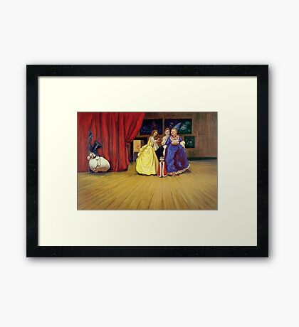 At the palace Framed Print