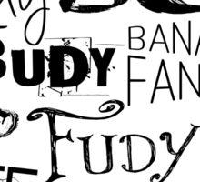 JUDY - THE name game Remake Black version Sticker