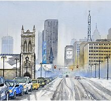Winter on Woodward Avenue Photographic Print