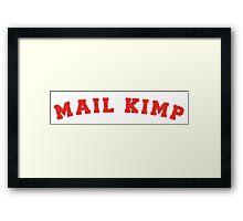 Mail Kimp - On Colours Framed Print