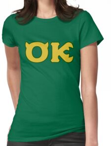 Oozma Kappa - monsters university frat  Womens Fitted T-Shirt