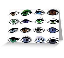 set of eyes Greeting Card