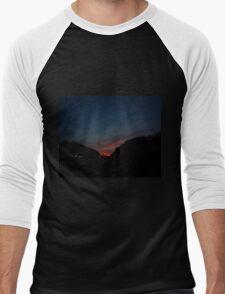 0621 - HDR Panorama - Towards Sunset Men's Baseball ¾ T-Shirt