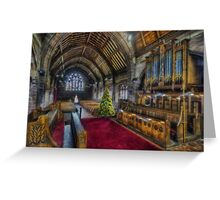 Christmas Church Service Greeting Card