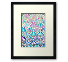 Glamorous Twenties Art Deco Pastel Pattern Framed Print