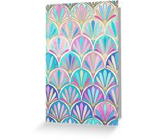 Glamorous Twenties Art Deco Pastel Pattern Greeting Card