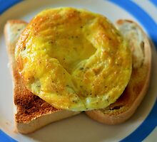 Omelette on Jamaican Toast by Andrew Reid Wildman