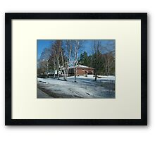 A Winter Drive By Framed Print
