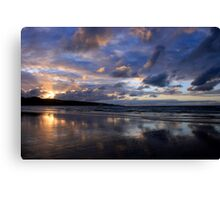 Sunset at Ahipara, Ninety Mile Beach, New Zealand Canvas Print