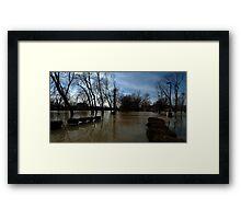 0704 - HDR Panorama - Park Flood 1 Framed Print