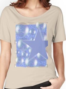 Star  Bubble Shirt Women's Relaxed Fit T-Shirt