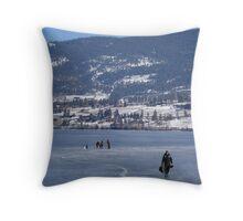 Ice Fishing Throw Pillow